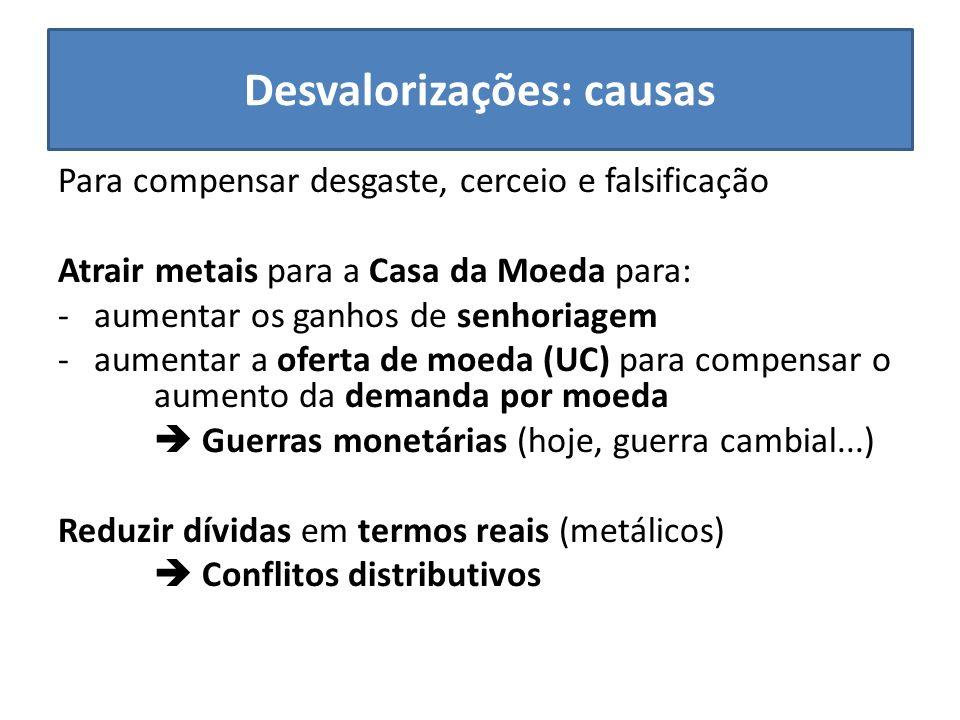 Desvalorizações: causas