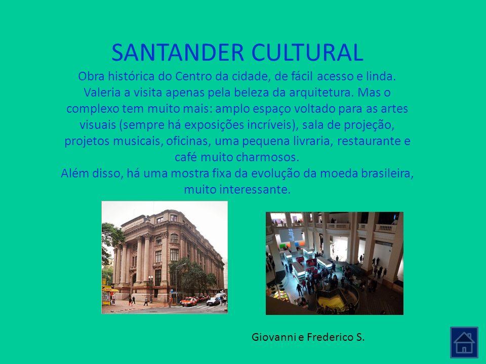 Obra histórica do Centro da cidade, de fácil acesso e linda.