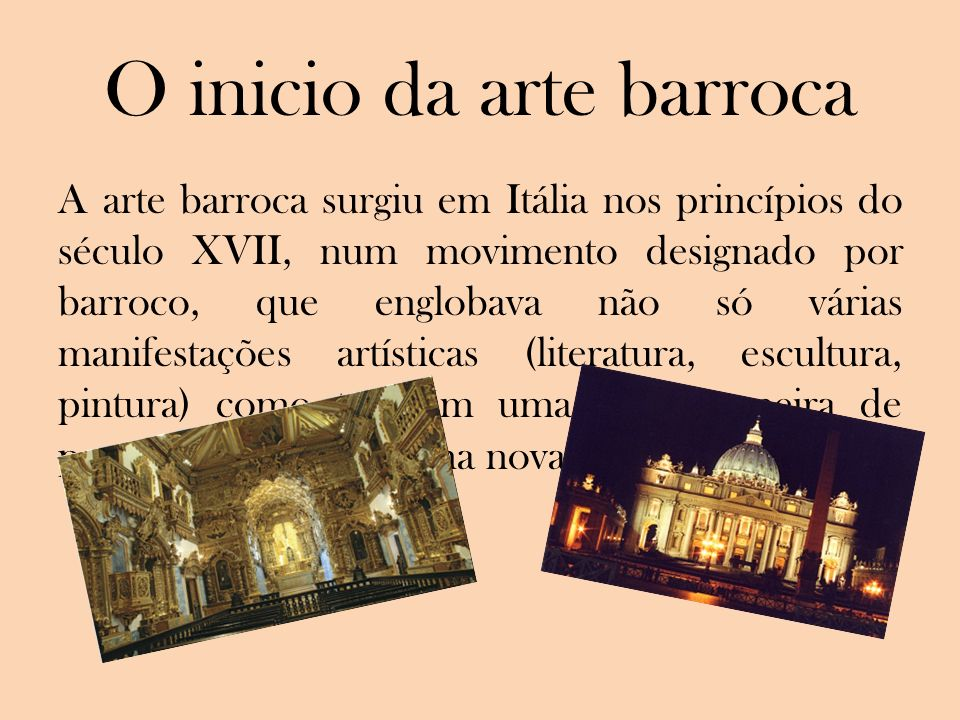 O inicio da arte barroca