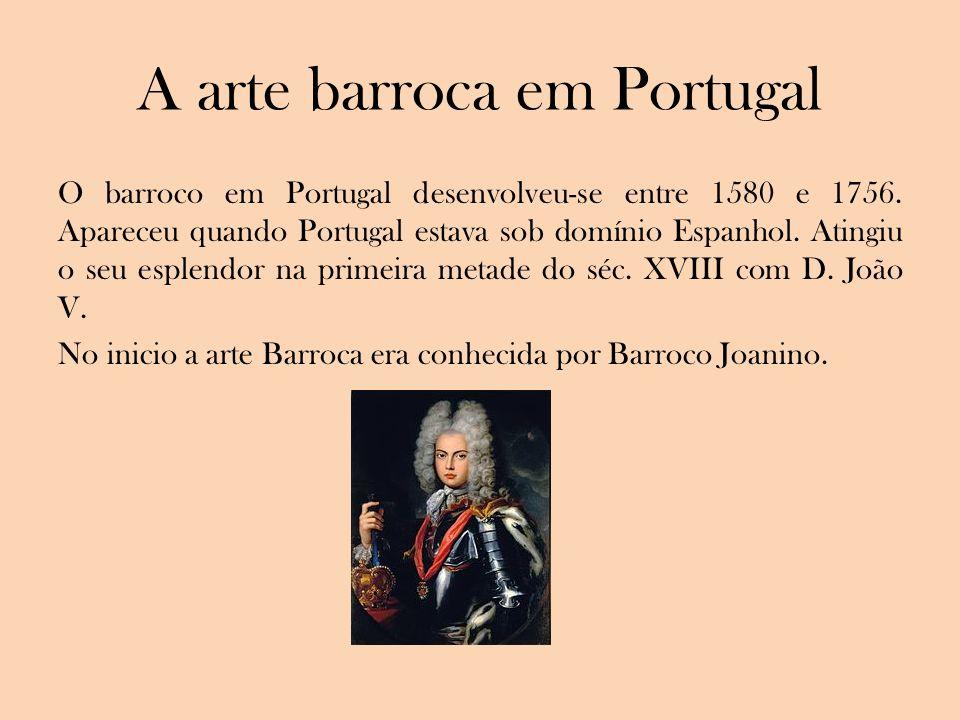 A arte barroca em Portugal