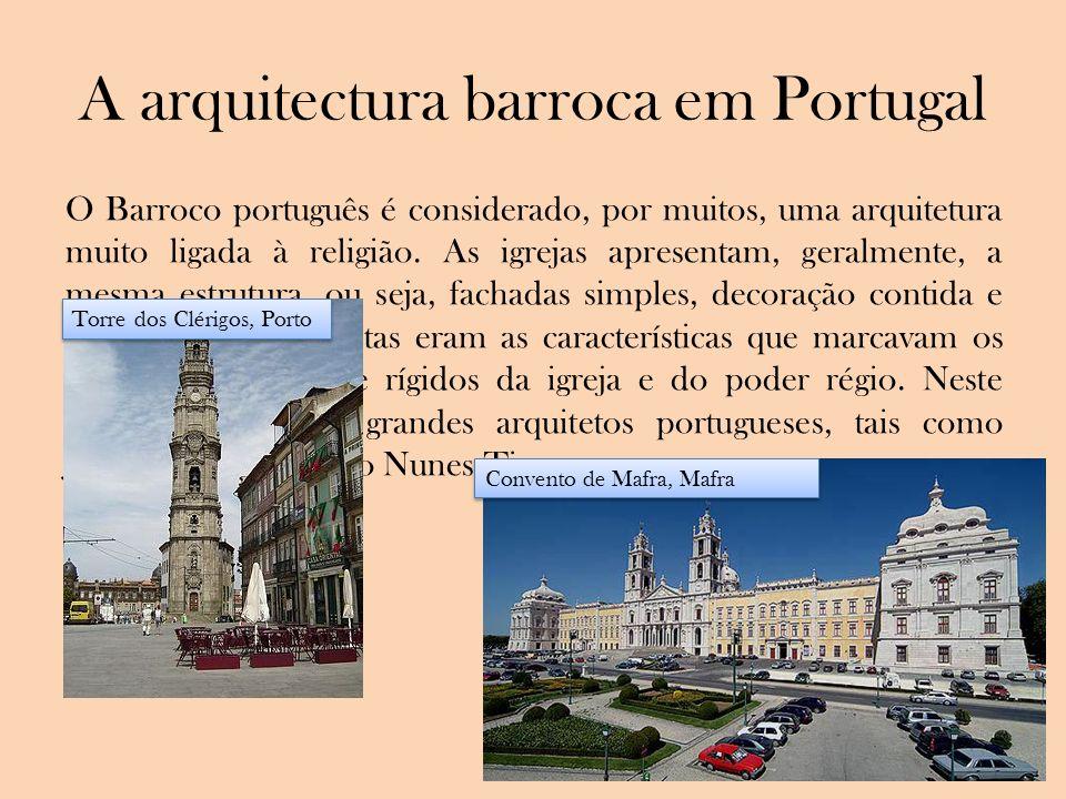 A arquitectura barroca em Portugal