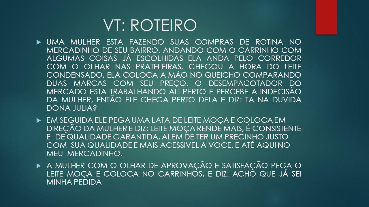 VT: ROTEIRO