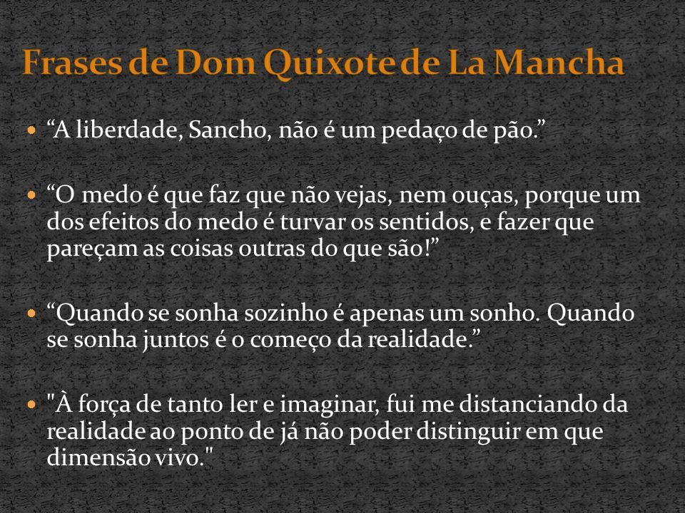 Frases de Dom Quixote de La Mancha