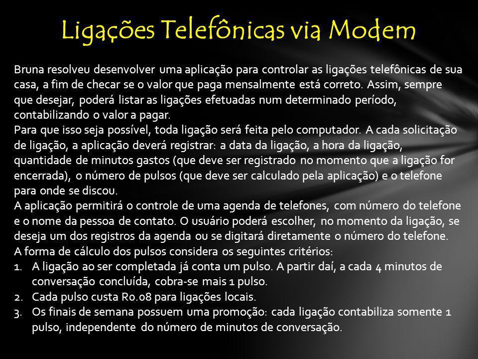 Ligações Telefônicas via Modem