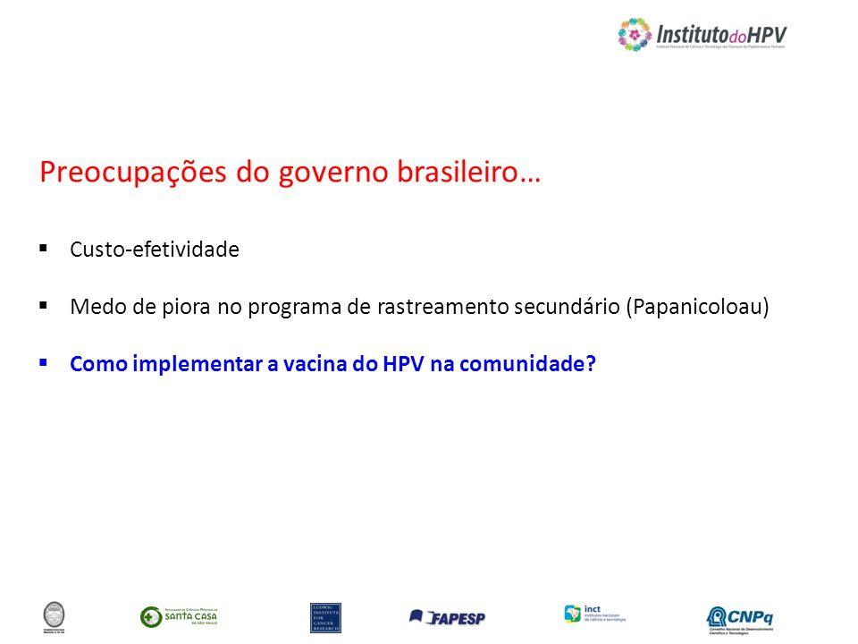 Preocupações do governo brasileiro…