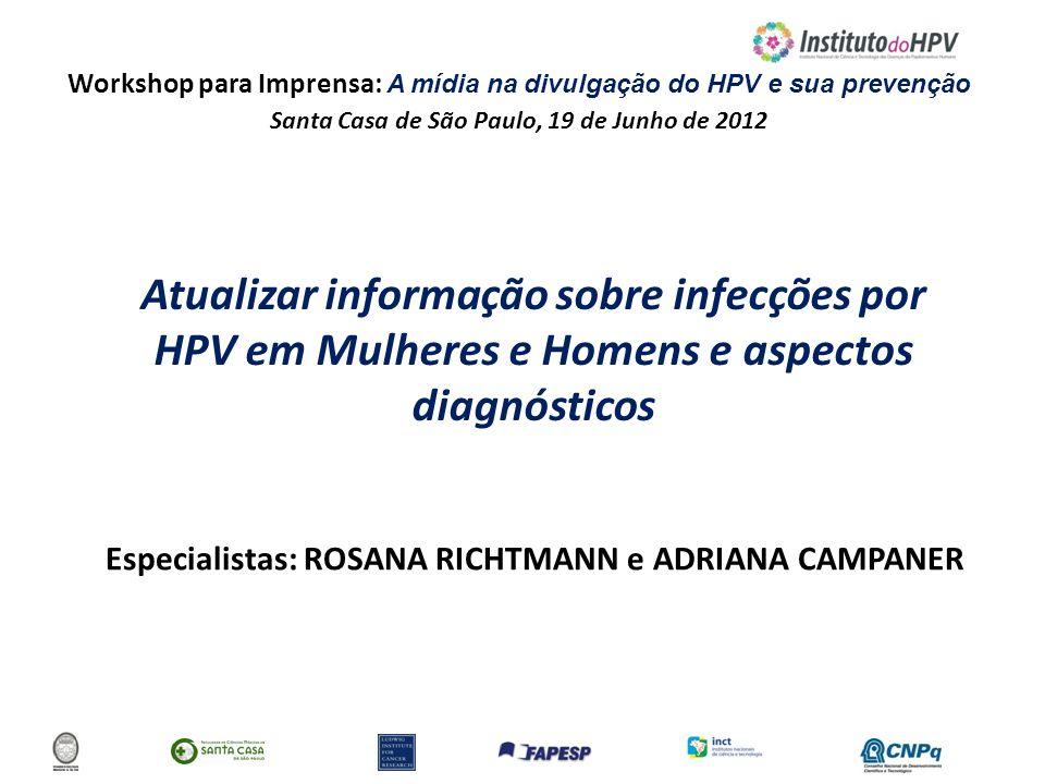 Workshop para Imprensa: A mídia na divulgação do HPV e sua prevenção