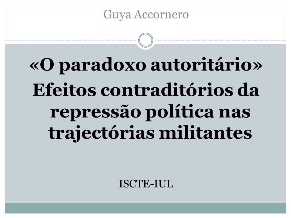 «O paradoxo autoritário»