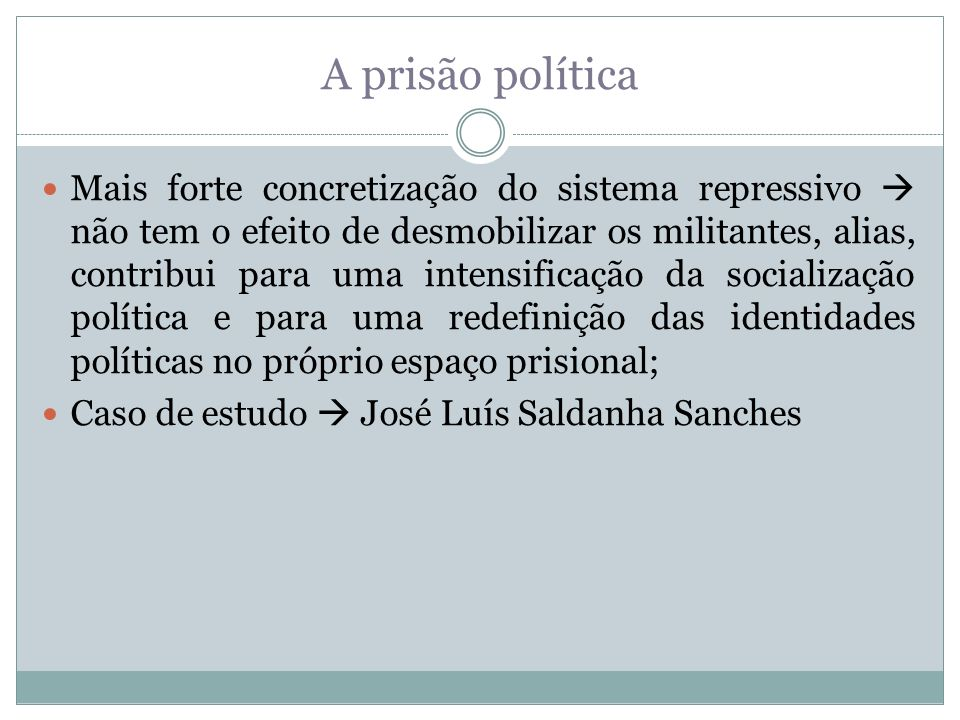 A prisão política