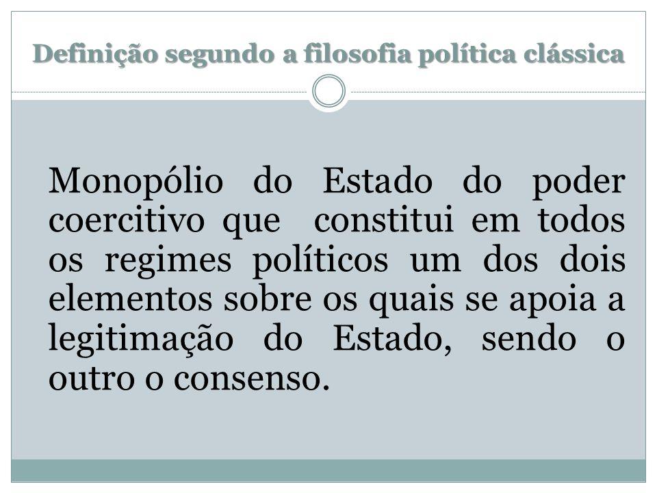 Definição segundo a filosofia política clássica