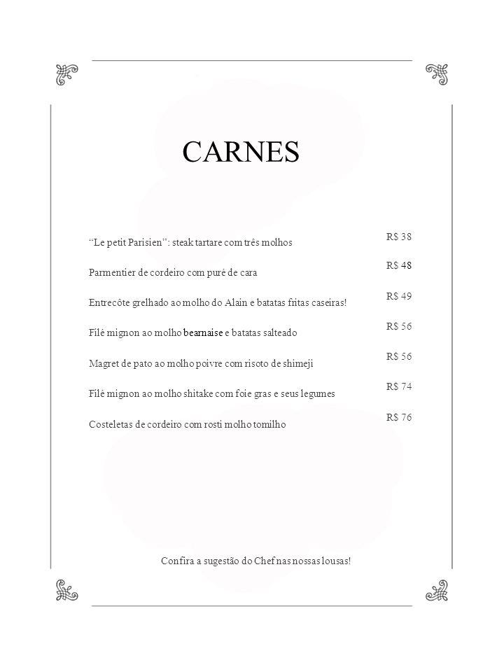 CARNES Le petit Parisien : steak tartare com três molhos