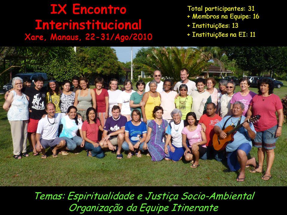 IX Encontro Interinstitucional
