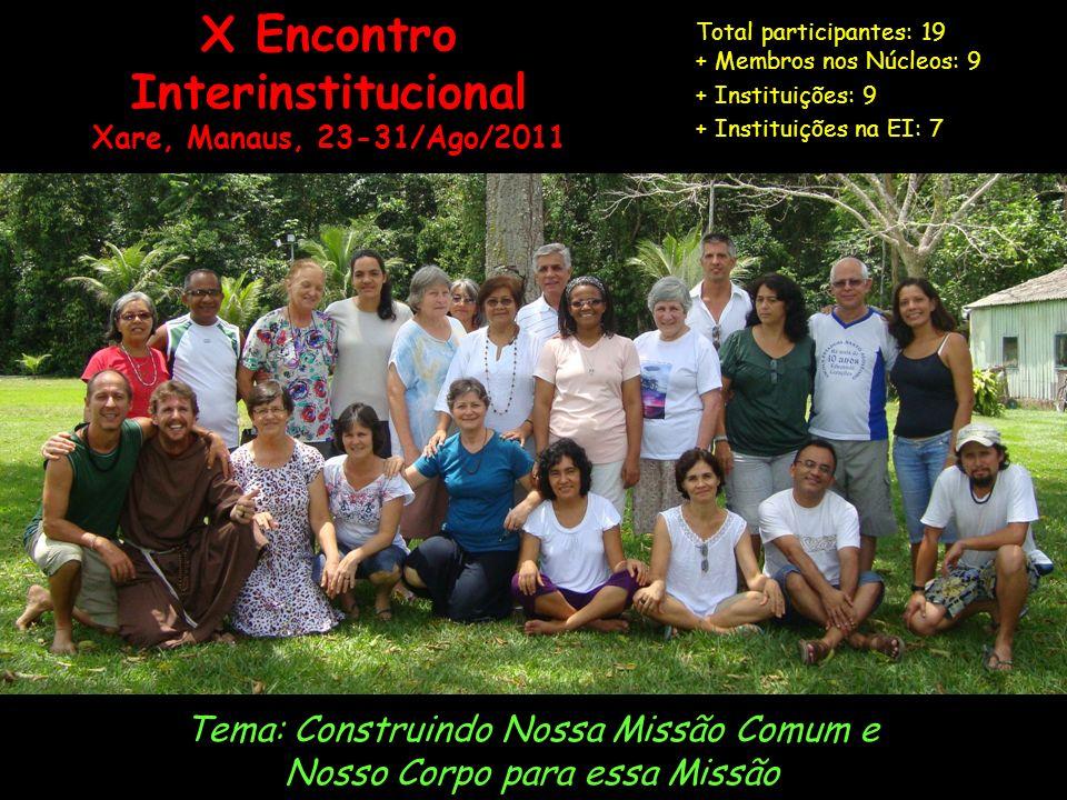 X Encontro Interinstitucional