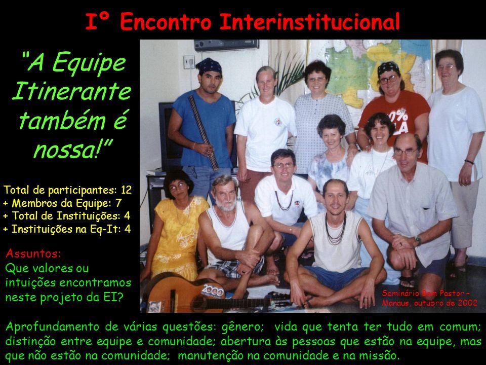 Iº Encontro Interinstitucional