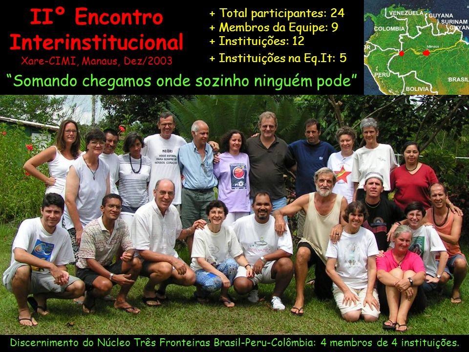IIº Encontro Interinstitucional Xare-CIMI, Manaus, Dez/2003