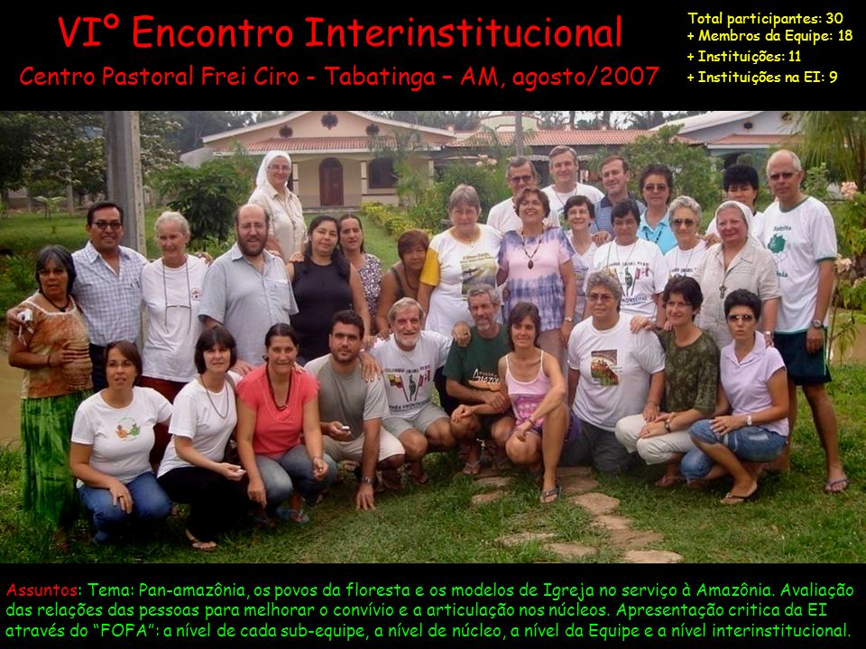 VIº Encontro Interinstitucional