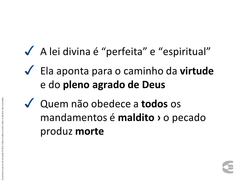 A lei divina é perfeita e espiritual