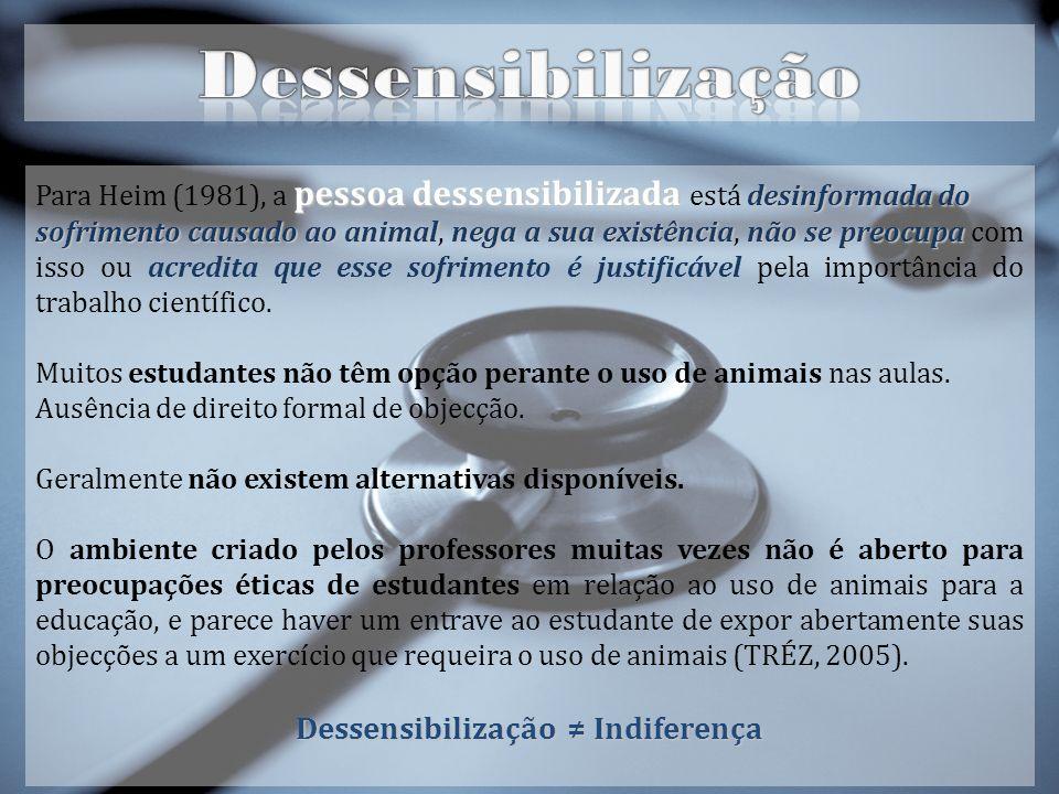 Dessensibilização ≠ Indiferença