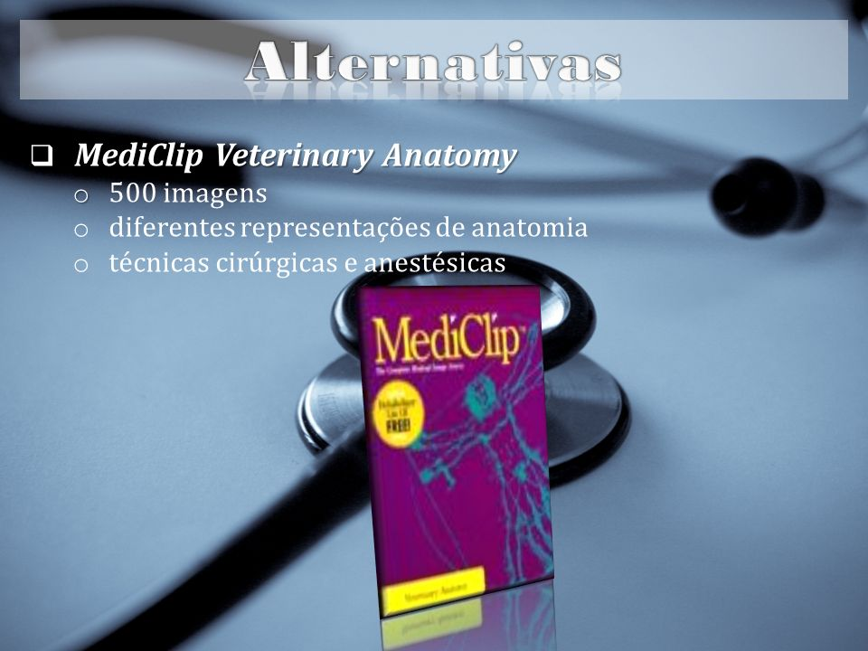 Alternativas MediClip Veterinary Anatomy 500 imagens