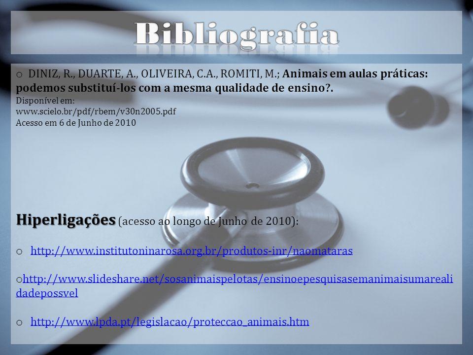 Bibliografia Hiperligações (acesso ao longo de Junho de 2010):