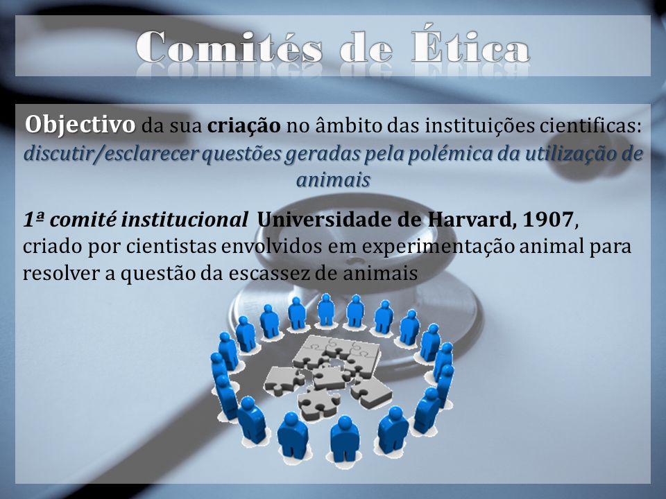 Objectivo da sua criação no âmbito das instituições cientificas: