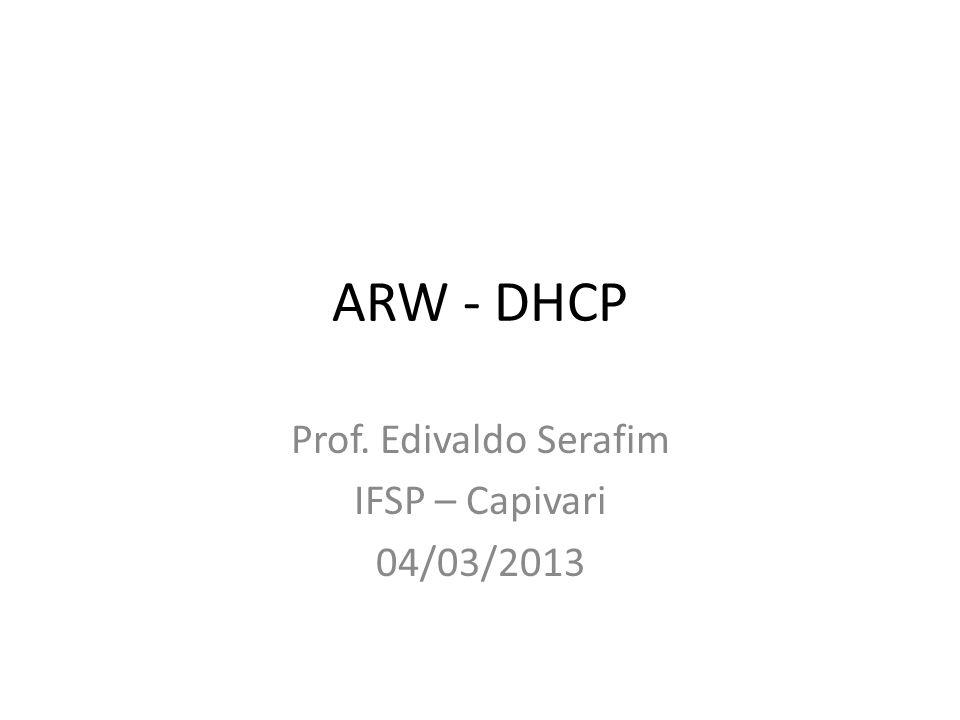 Prof. Edivaldo Serafim IFSP – Capivari 04/03/2013
