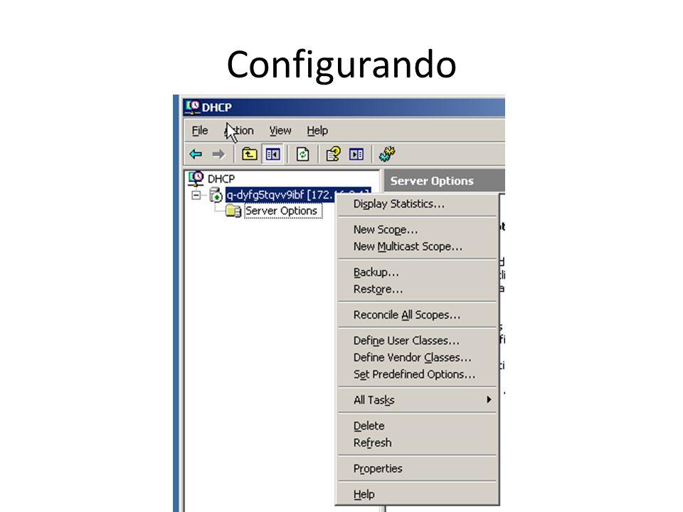 Configurando