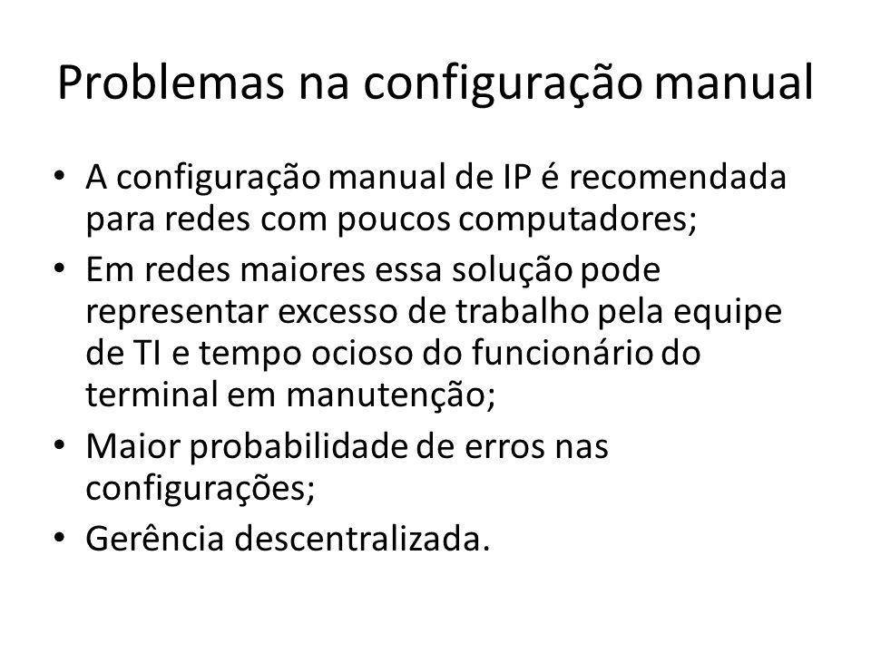 Problemas na configuração manual