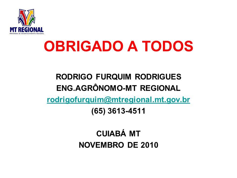 RODRIGO FURQUIM RODRIGUES ENG.AGRÔNOMO-MT REGIONAL