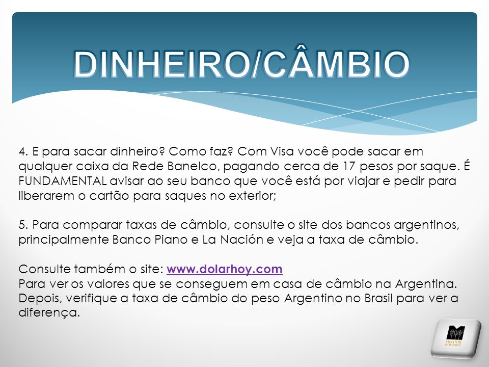 DINHEIRO/CÂMBIO