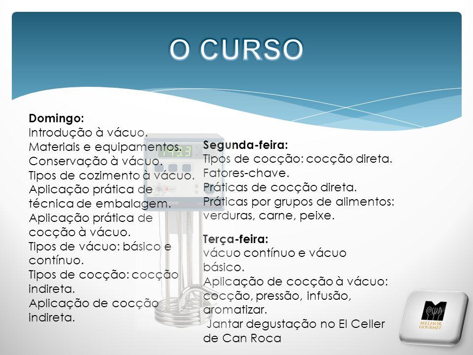 O CURSO Domingo: Introdução à vácuo. Materiais e equipamentos.