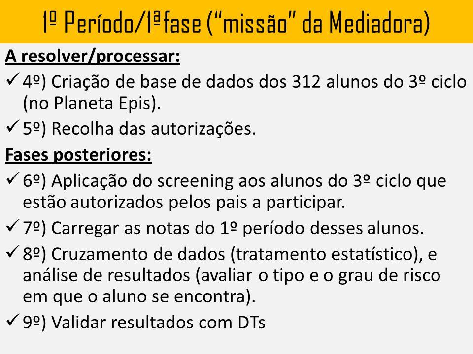 1º Período/1ªfase ( missão da Mediadora)