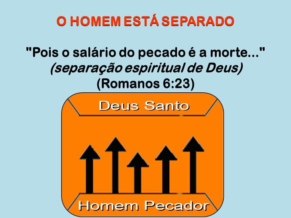 Pois o salário do pecado é a morte... (separação espiritual de Deus)