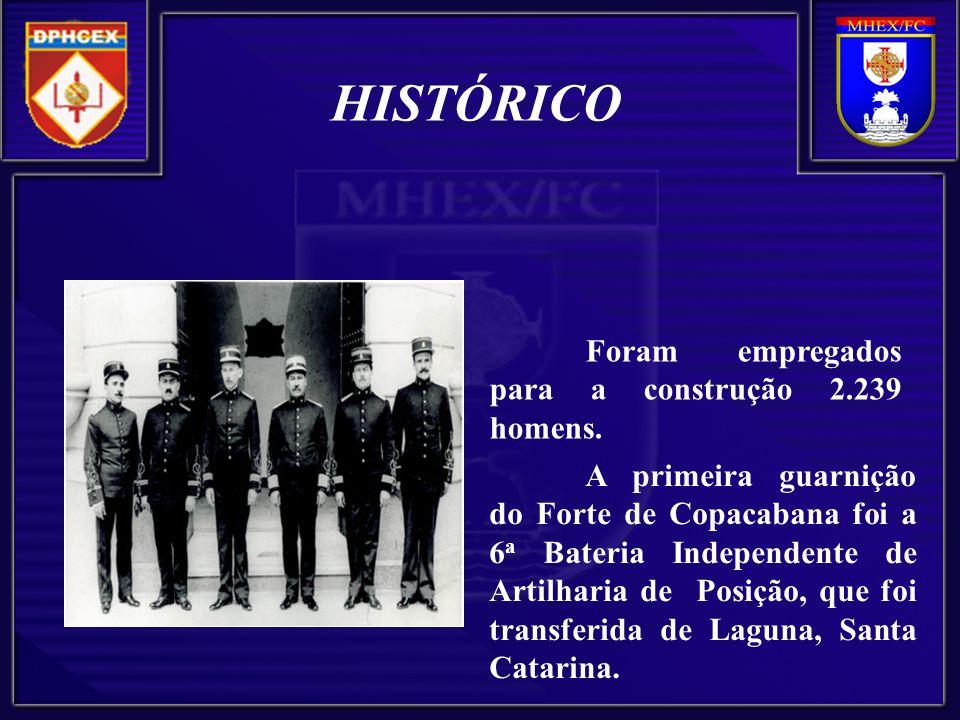HISTÓRICO Foram empregados para a construção 2.239 homens.