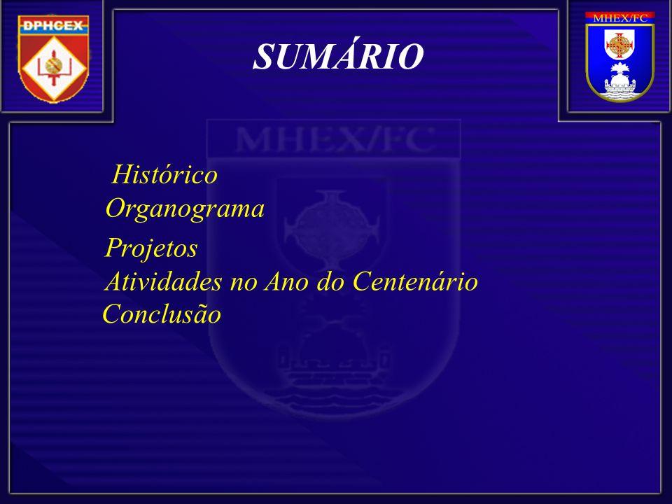 SUMÁRIO Histórico Organograma Projetos Atividades no Ano do Centenário