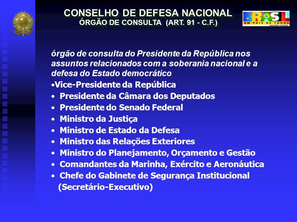 CONSELHO DE DEFESA NACIONAL ÓRGÃO DE CONSULTA (ART. 91 - C.F.)