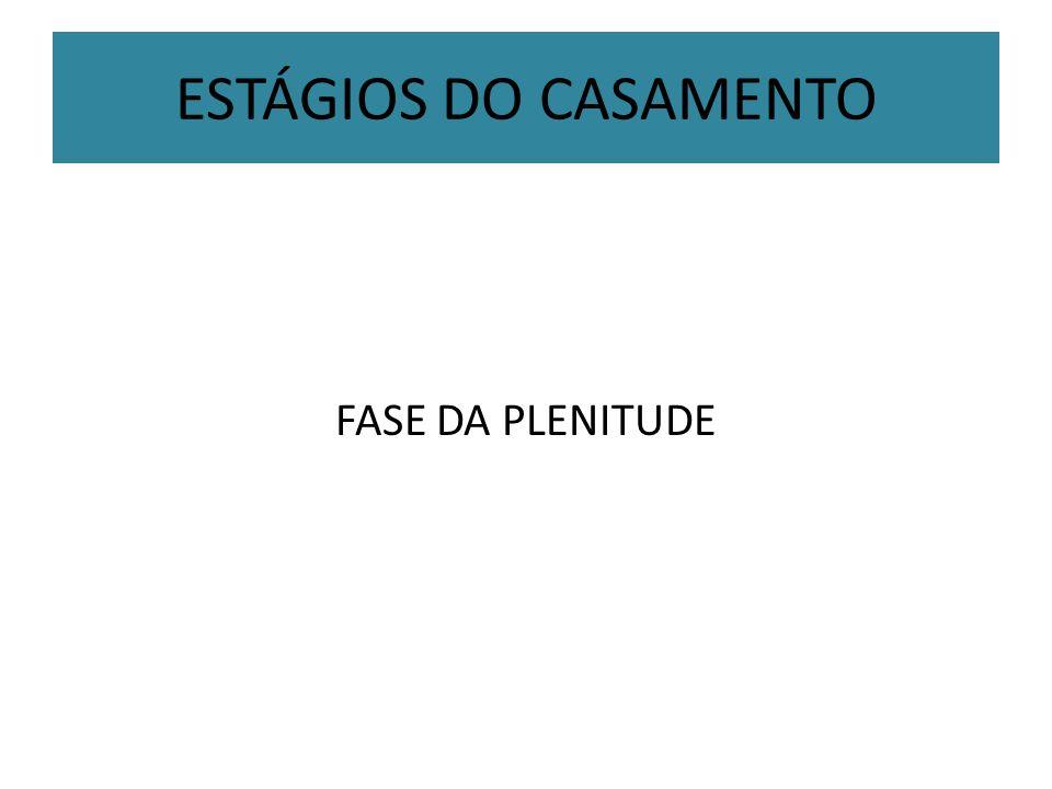 ESTÁGIOS DO CASAMENTO FASE DA PLENITUDE