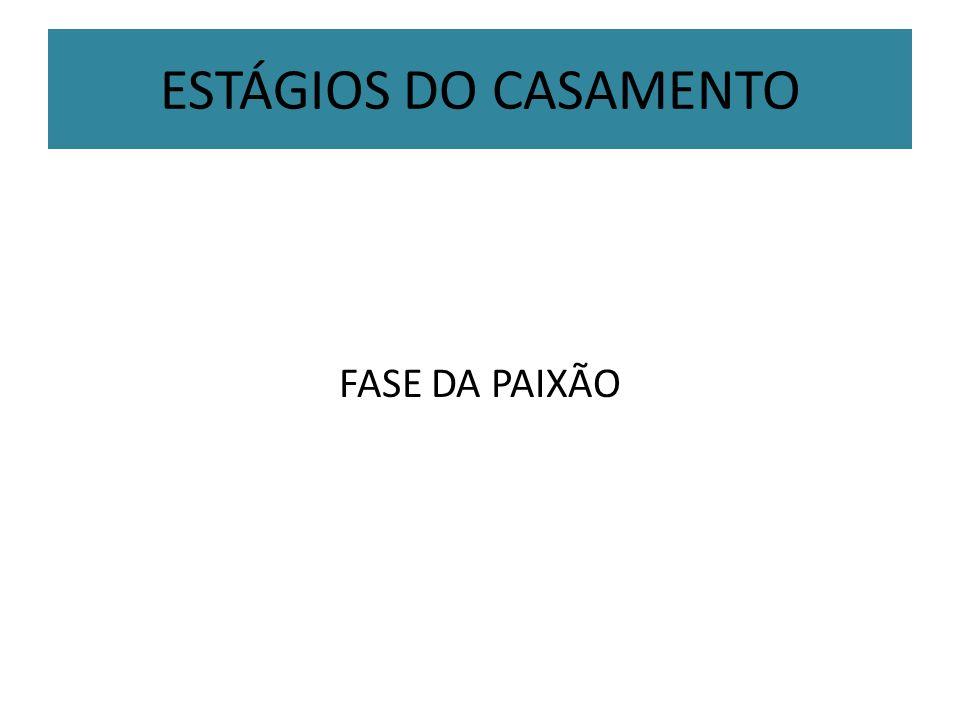 ESTÁGIOS DO CASAMENTO FASE DA PAIXÃO