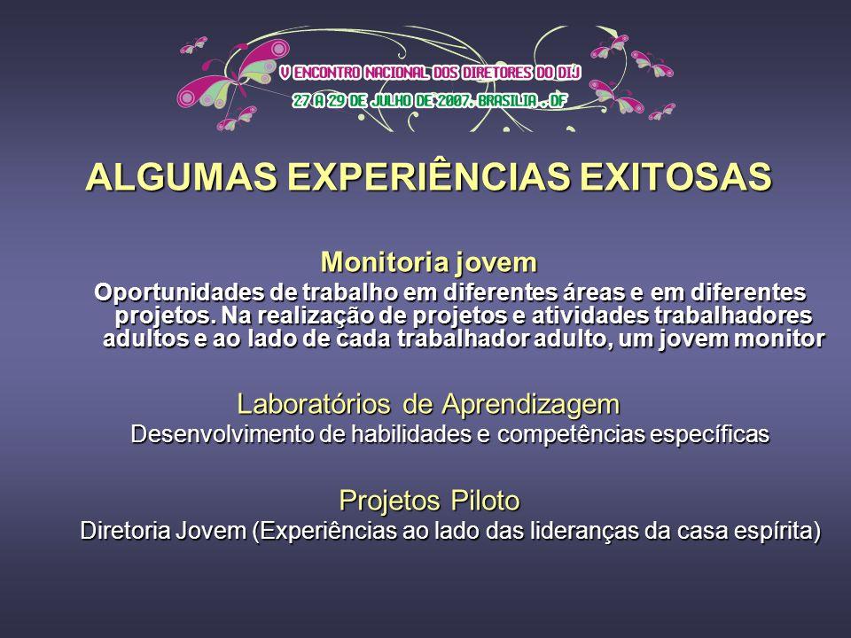 ALGUMAS EXPERIÊNCIAS EXITOSAS