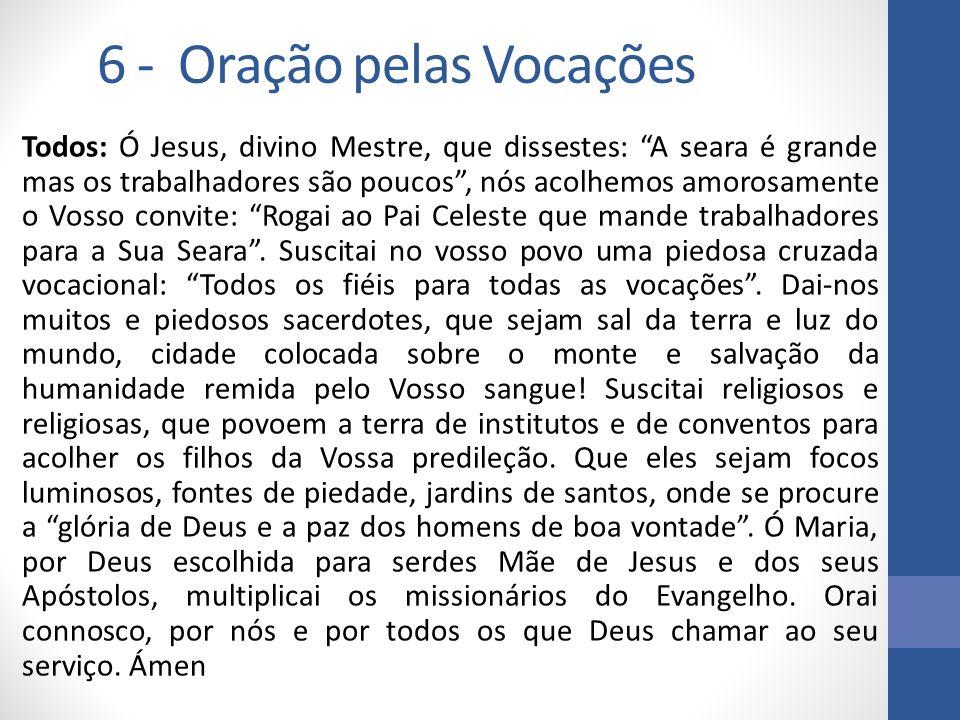 6 - Oração pelas Vocações