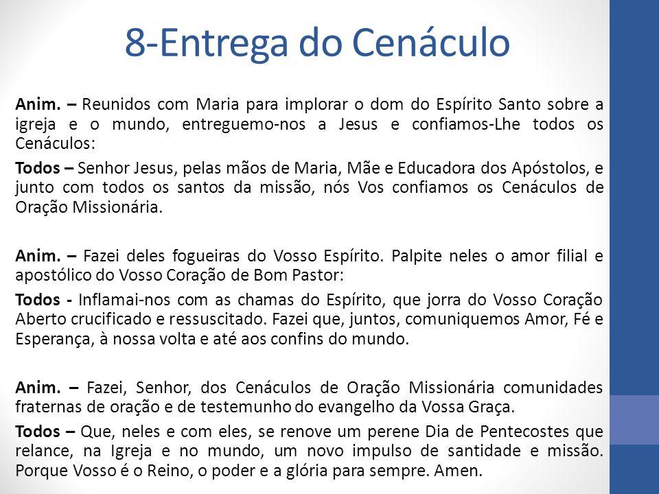 8-Entrega do Cenáculo