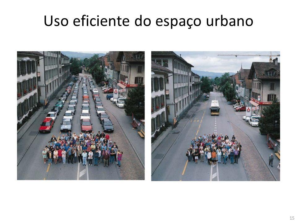 Uso eficiente do espaço urbano