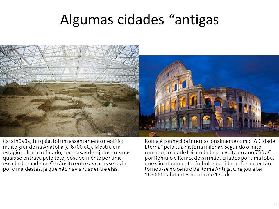 Algumas cidades antigas