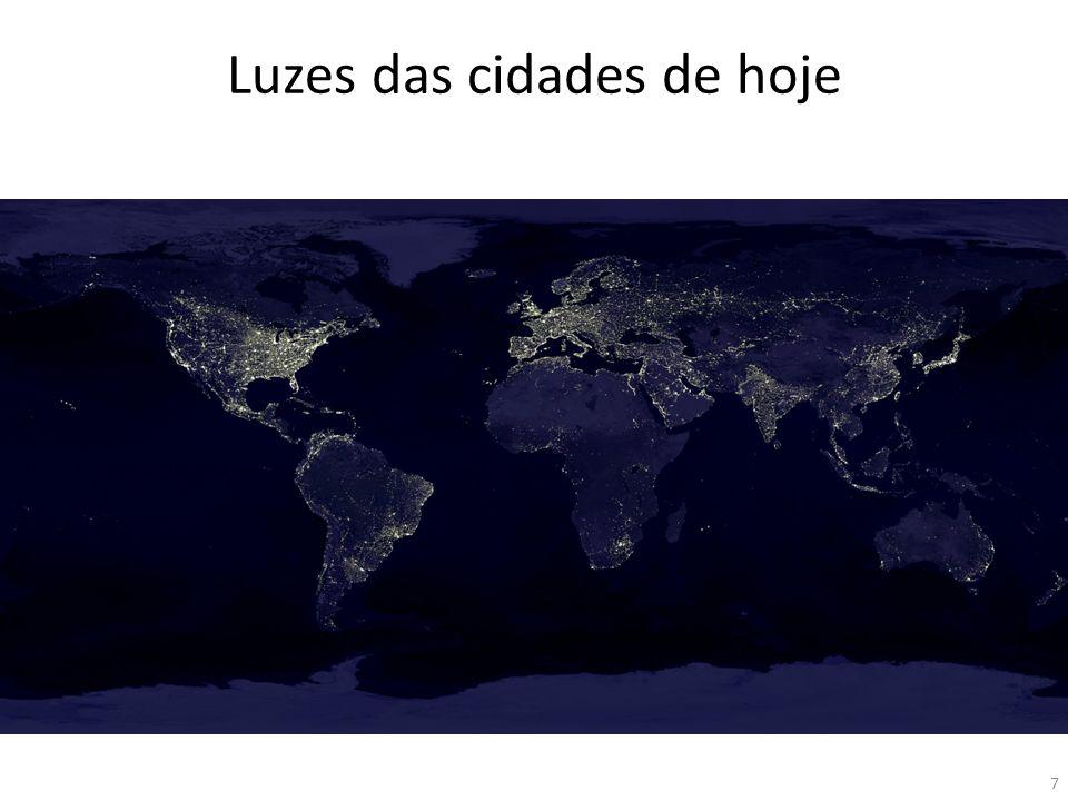 Luzes das cidades de hoje