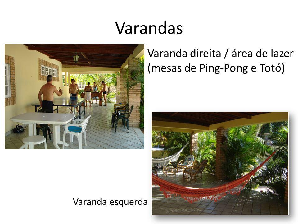 Varandas Varanda direita / área de lazer (mesas de Ping-Pong e Totó)