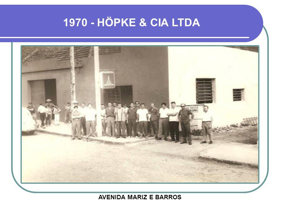 1970 - HÖPKE & CIA LTDA AVENIDA MARIZ E BARROS