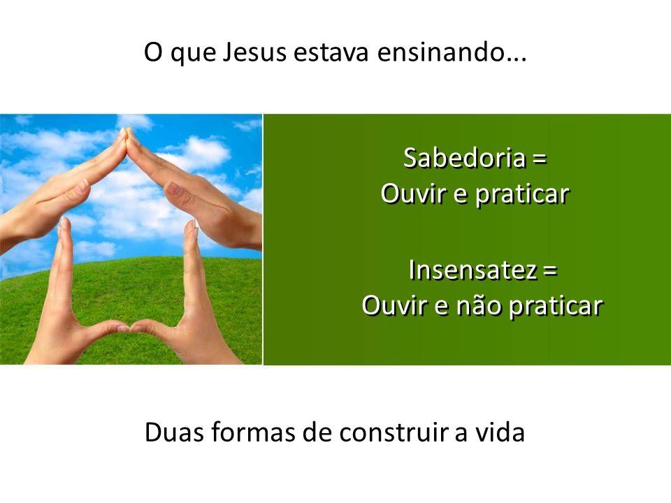 O que Jesus estava ensinando...