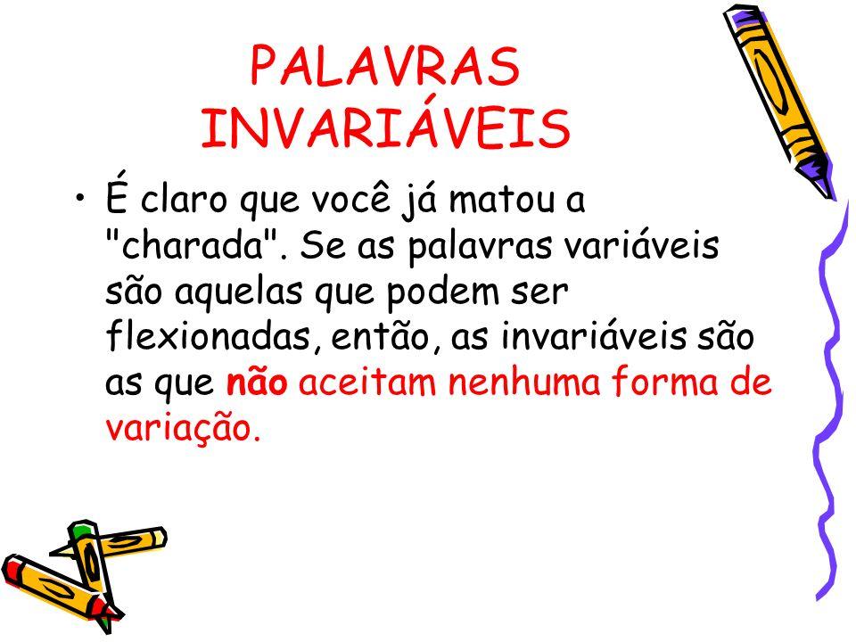PALAVRAS INVARIÁVEIS