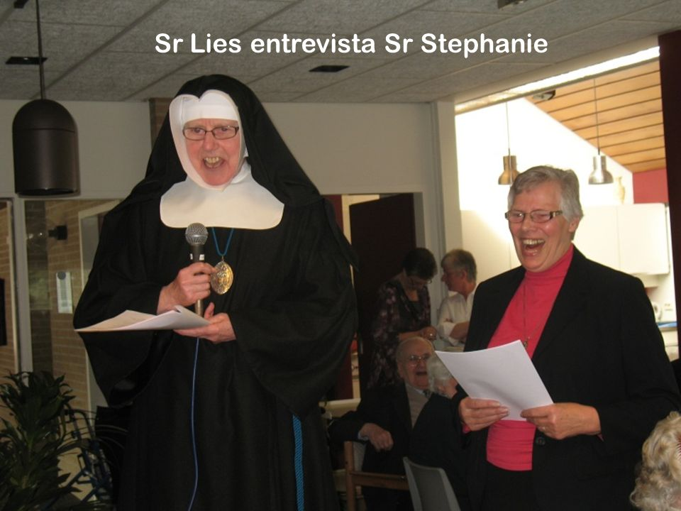 Sr Lies entrevista Sr Stephanie