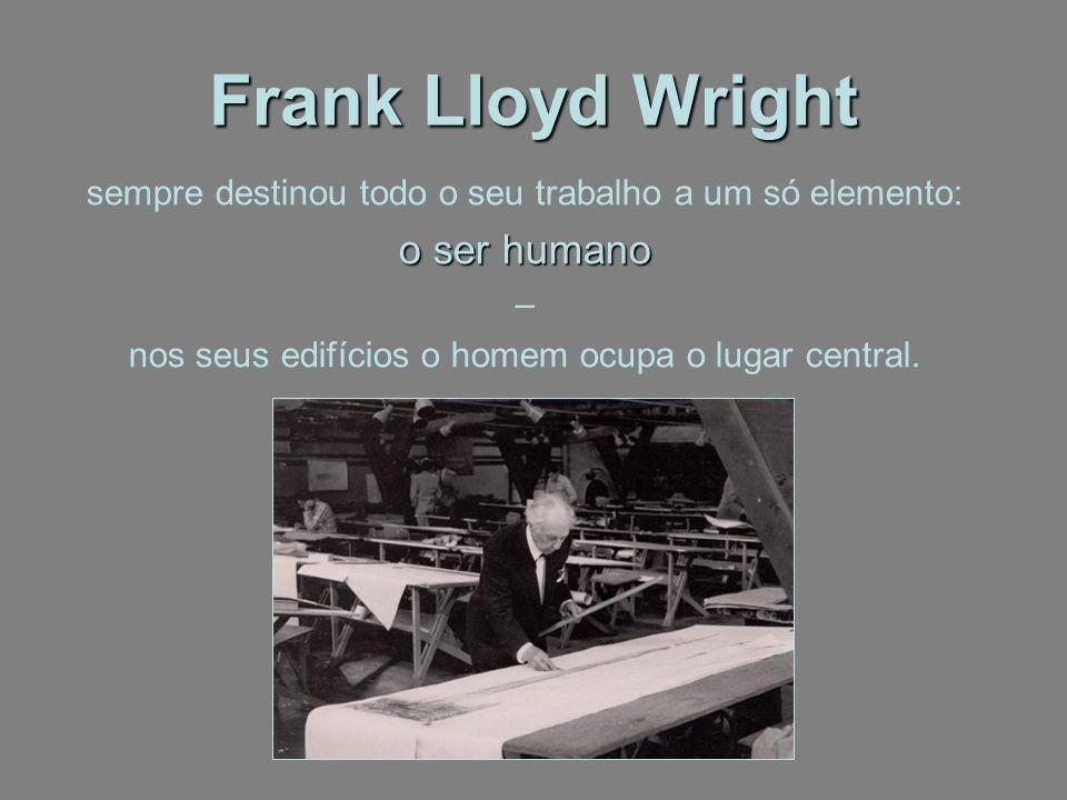 Frank Lloyd Wright o ser humano