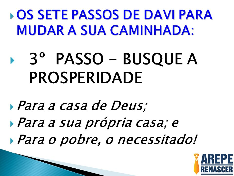 3º PASSO - BUSQUE A PROSPERIDADE